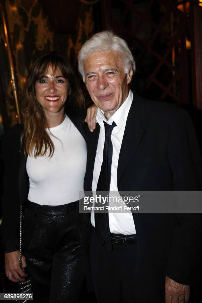 Victoria Bedos and his Father Guy Bedos attend the Dinner of 'La Nuit des Molieres 2017' at la Closerie des Lilas on May 29 2017 in Paris France