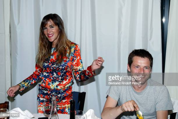 Victoria Bedos and Pierre Deladonchamps attend 'Suite Michele Morgan Opening' at Hotel Majestic Barriere on October 7 2017 in Cannes France