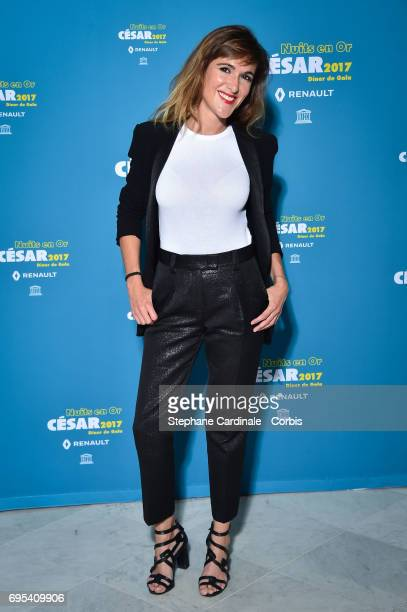 Victoria Bedos attends 'Les Nuits en Or 2017' Dinner Gala at Unesco on June 12 2017 in Paris France
