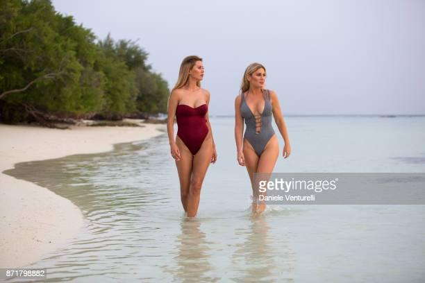 Victoria Bonya and Hofit Golan are seenat Hideaway Beach Resort Spa on November 8 2017 in Male Maldives