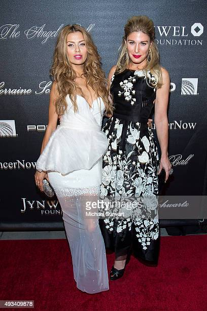 Victoria Bonya and Hofit Golan attend the 2015 Angel Ball at Cipriani Wall Street on October 19 2015 in New York City