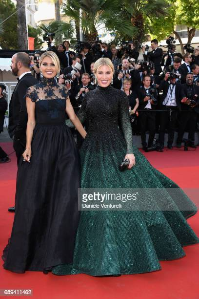 Victoria Bonya and Hofit Golan attend the Closing Ceremony during the 70th annual Cannes Film Festival at Palais des Festivals on May 28 2017 in...
