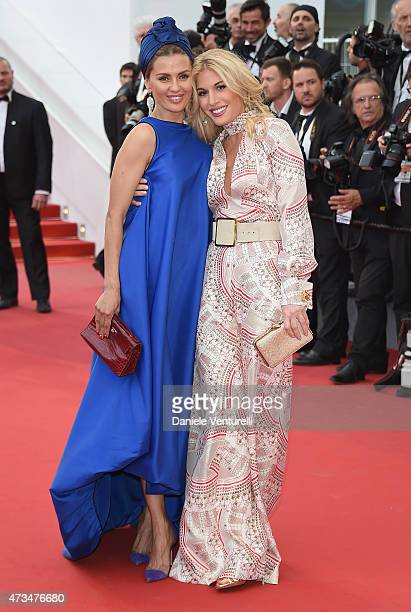 Victoria Bonya and Hofit Golan attend the 'Irrational Man' Premiere during the 68th annual Cannes Film Festival on May 15 2015 in Cannes France