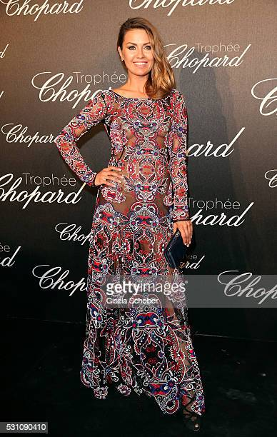 Victoria Bonya arrives at the Chopard Trophy Ceremony at the annual 69th Cannes Film Festival at Hotel Martinez on May 12 2016 in Cannes France