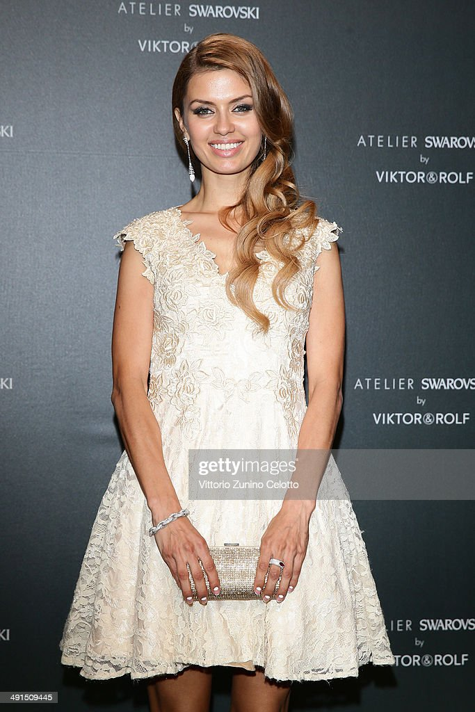 Victoria Bonya attends a party hosted by Swarovski and Viktor Rolf during the 67th Annual Cannes Film Festival on May 16 2014 in Cannes France