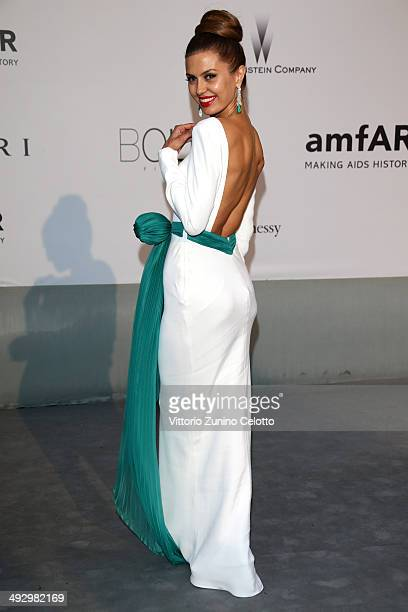 Victoria Bonya attends amfAR's 21st Cinema Against AIDS Gala Presented By WORLDVIEW BOLD FILMS And BVLGARI at Hotel du CapEdenRoc on May 22 2014 in...