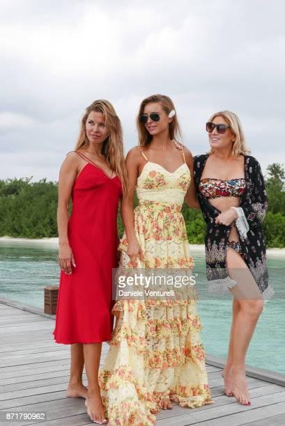 Victoria Bonya Josefine Forsberg and Hofit Golan are seenat Hideaway Beach Resort Spa on November 8 2017 in Male Maldives