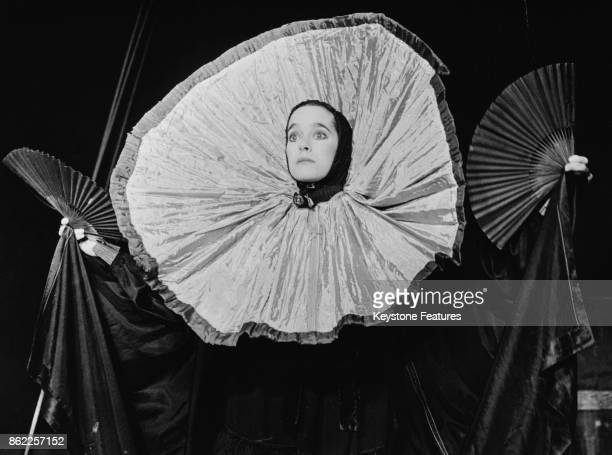 Victoria Chaplin daughter of actor Charlie Chaplin performs with her circus Le Cirque Bonjour in Paris France circa 1978