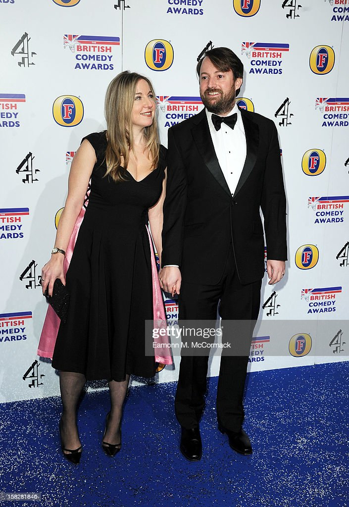 Victoria Coren and David Mitchell attend the British Comedy Awards at Fountain Studios on December 12, 2012 in London, England.