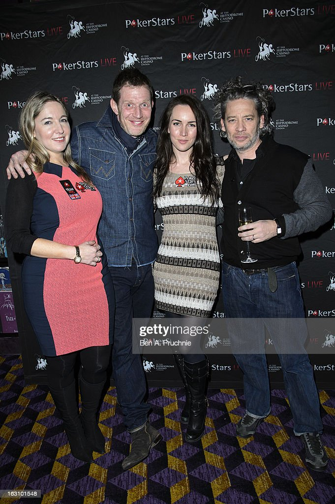 Victoria Coren, Jason Flemyng, Liv Boeree and Dexter Fletcher attend the launch of The PokerStars LIVE Lounge at The Hippodrome Casino London on March 4, 2013 in London, England