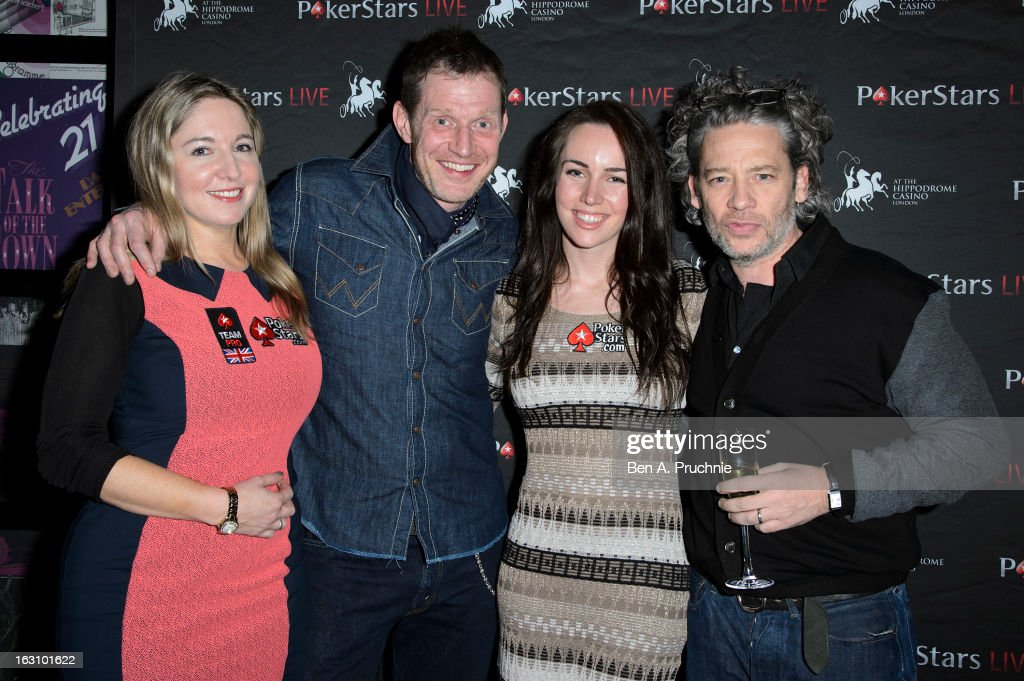 Victoria Coren, <a gi-track='captionPersonalityLinkClicked' href=/galleries/search?phrase=Jason+Flemyng&family=editorial&specificpeople=680735 ng-click='$event.stopPropagation()'>Jason Flemyng</a>, Liv Boeree and <a gi-track='captionPersonalityLinkClicked' href=/galleries/search?phrase=Dexter+Fletcher&family=editorial&specificpeople=618749 ng-click='$event.stopPropagation()'>Dexter Fletcher</a> attend the launch of The PokerStars LIVE Lounge at The Hippodrome Casino London on March 4, 2013 in London, England