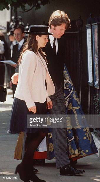Victoria Countess Spencer With Her Husband Charles Earl Spencer Arriving Together For The Memorial Service At St Margaret's Church Westminster Abbey...