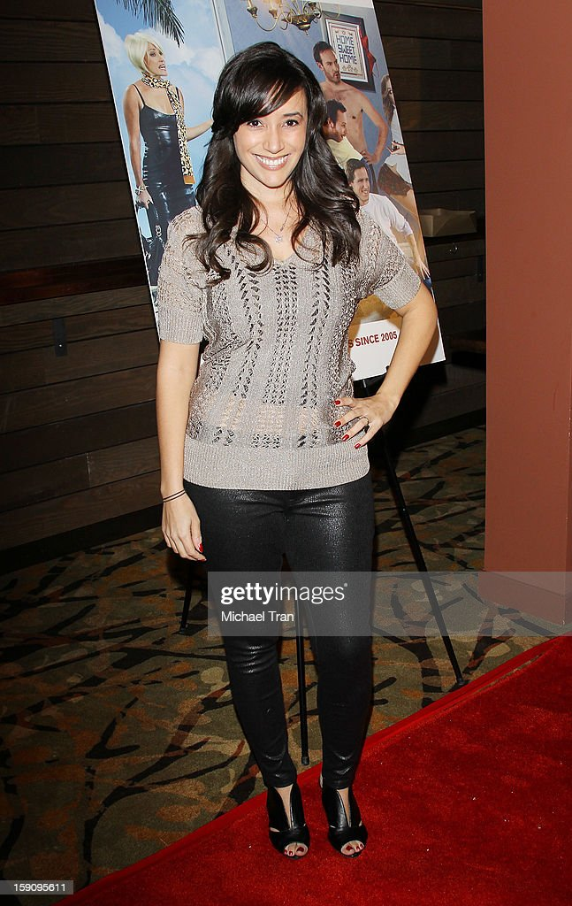 Victoria Cruz arrives at the Los Angeles premiere of 'Freeloaders' held at Sundance Cinemas on January 7, 2013 in Los Angeles, California.