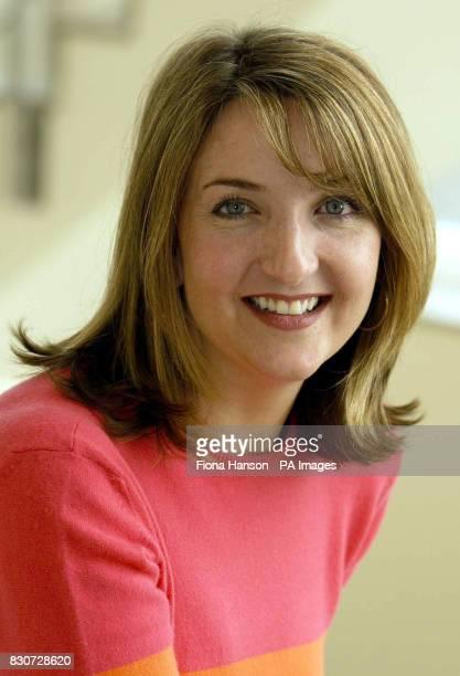 Victoria Derbyshire at BBC Radio Live in London *15/10/03 Victoria is to take over BBC Radio Five Live's midmorning phonein show it was announced She...