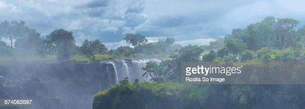 Victoria Falls in the mist, Zimbabwe