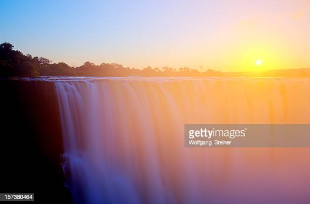 Victoria falls shortly after sunrise