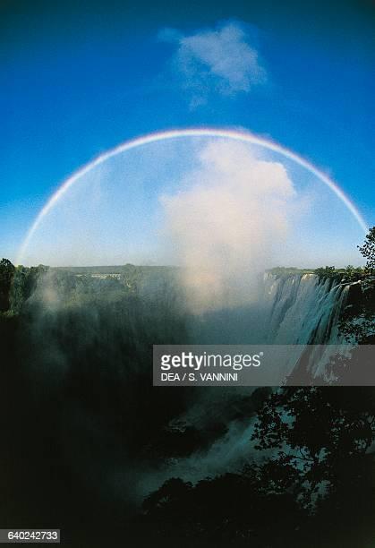 Victoria Falls Zambezi River rainbow MosioaTunya National Park Zambia
