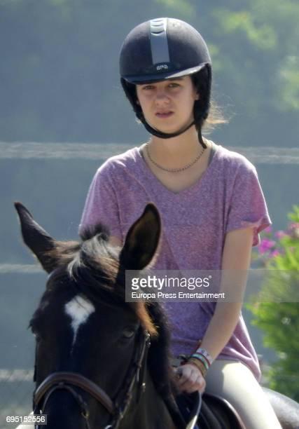 Victoria Federica de Marichalar is seen during Dona Maria de las Mercedes Polo Memorial at Los Pinos de Santa Maria Polo Club on June 10 2017 in...