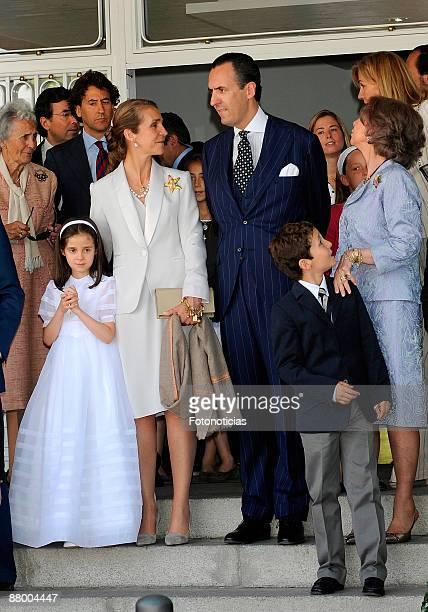 Victoria Federica Marichalar Princess Elena of Spain Jaime de Marichalar Queen Sofia of Spain Juan Froilan Marichalar attend Victoria Federica de...
