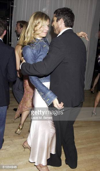 Victoria Gooder with actor Gerard Butler attend 'An Evening For Sargent Cancer Care For Children' at the Sanderson Hotel on July 7 2004 in London