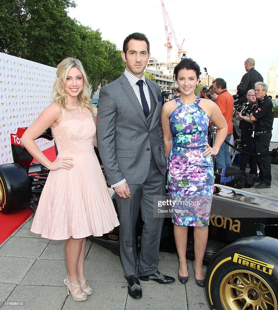 Victoria Gray, David Webb and Monica McGhee of Amore attend the F1 Party in aid of great ormond street hospital childrens charity at Old Billingsgate Market on June 26, 2013 in London, England.