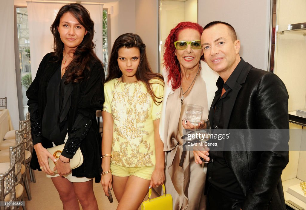 Victoria Gucci, <a gi-track='captionPersonalityLinkClicked' href=/galleries/search?phrase=Bip+Ling&family=editorial&specificpeople=5953668 ng-click='$event.stopPropagation()'>Bip Ling</a>, Patricia Field and Julien Macdonald attend the 12th birthday of New York jewellery house Fararone Mennella, with guest of honour Patricia Field, at their Knightsbridge store on June 13, 2013 in London, England.