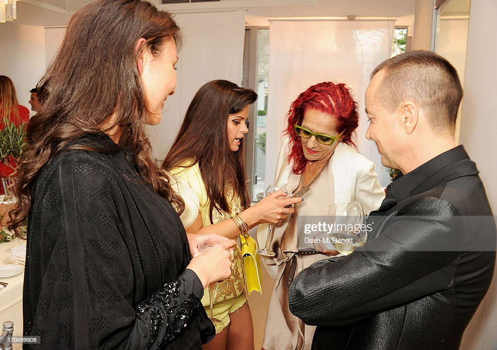 Victoria Gucci, Bip Ling, Patricia Field and Julien Macdonald attend the 12th birthday of New York jewellery house Fararone Mennella, with guest of honour Patricia Field, at their Knightsbridge store on June 13, 2013 in London, England.