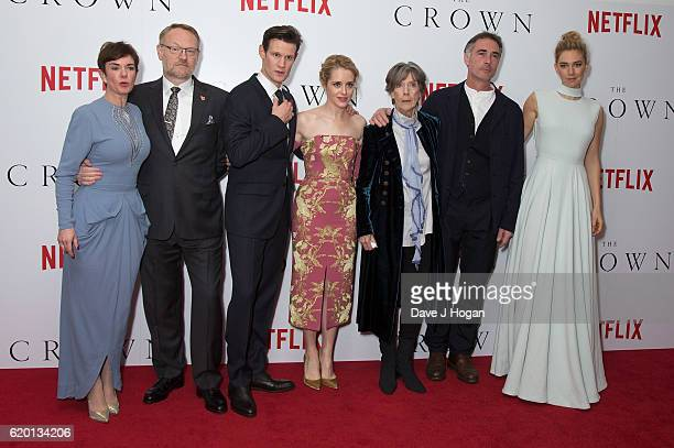Victoria Hamilton Stephen Daltry Matt SmithClaire Foy Dame Eileen Atkins Greg Wise and Vanessa Kirby attend the World Premiere of new Netflix...