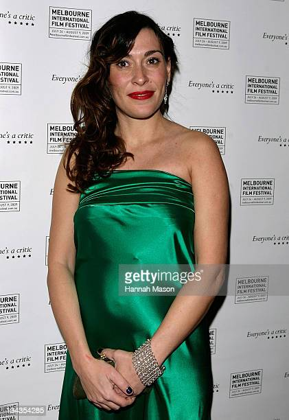 Victoria Haralabidou arrives for the premiere of 'Blessed' at the Forum Theatre on July 25 2009 in Melbourne Australia