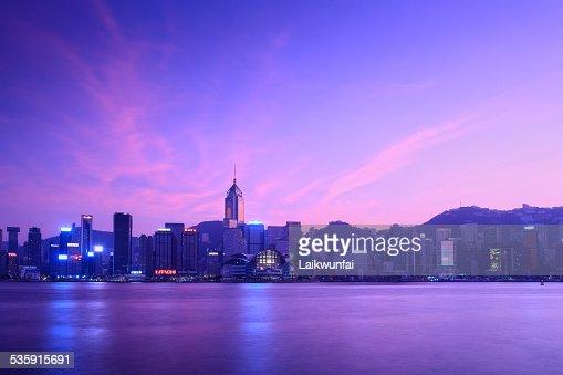 Porto de Victoria de Hong Kong : Foto de stock