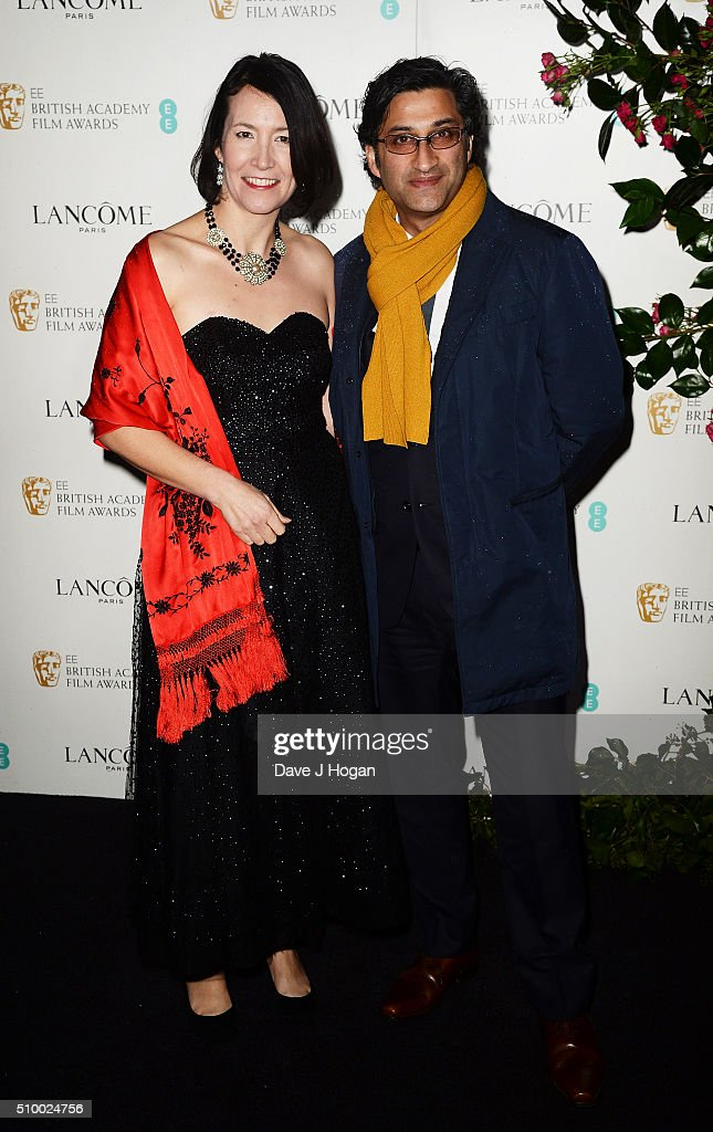 Victoria Harwood (L) and <a gi-track='captionPersonalityLinkClicked' href=/galleries/search?phrase=Asif+Kapadia&family=editorial&specificpeople=680084 ng-click='$event.stopPropagation()'>Asif Kapadia</a> attend the Lancome BAFTA nominees party at Kensington Palace on February 13, 2016 in London, England.