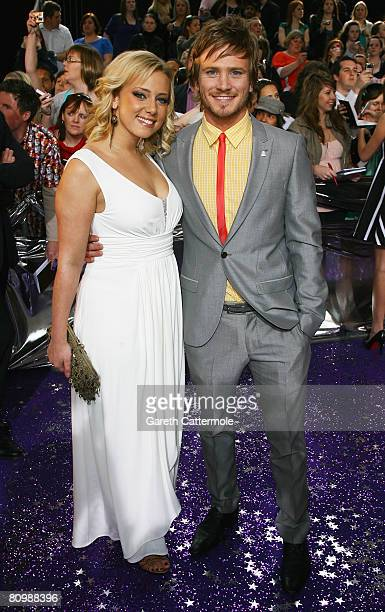 Victoria Hawkins and Matthew Wolfenden arrive for the British Soap Awards 2008 at BBC Television Centre on May 3 2008 in London England