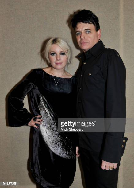 Victoria Hesketh and Gary Numan pose backstage at BBC Maida Vale Studios on December 7 2009 in London England