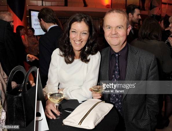 Victoria Hislop and Ian Hislop attend a drinks reception at the 2012 Costa Book of the Year awards at Quaglino's on January 29 2013 in London England