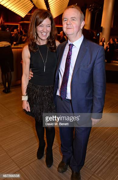 Victoria Hislop and Ian Hislop attend the Costa Book of the Year award at Quaglinos on January 27 2015 in London England