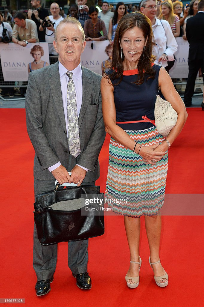 Victoria Hislop and Ian Hislop attend the world premiere of 'Diana' at The Odeon Leicester Square on September 5, 2013 in London, England.