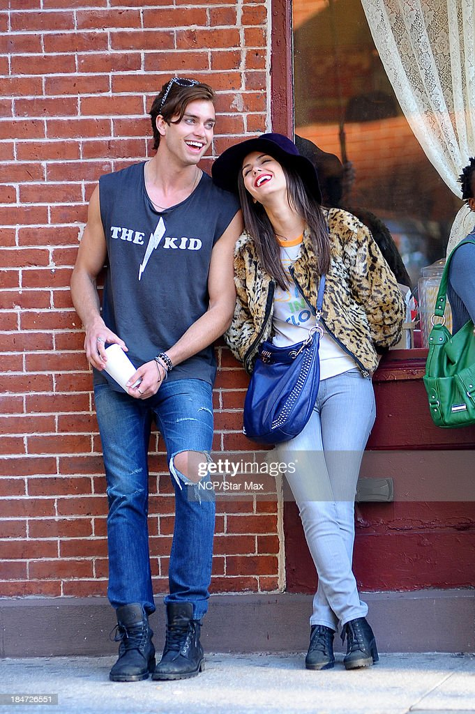 <a gi-track='captionPersonalityLinkClicked' href=/galleries/search?phrase=Victoria+Justice&family=editorial&specificpeople=569887 ng-click='$event.stopPropagation()'>Victoria Justice</a> and Pierson Fode are seen on October 15, 2013 in New York City.