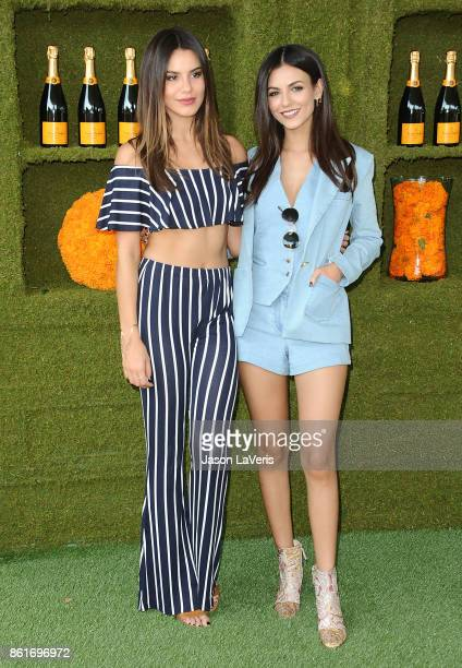 Victoria Justice and sister Madison Reed attend the 8th annual Veuve Clicquot Polo Classic at Will Rogers State Historic Park on October 14 2017 in...