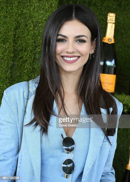 Victoria Justice arrives at the 8th Annual Veuve Clicquot Polo Classic at Will Rogers State Historic Park on October 14 2017 in Pacific Palisades...