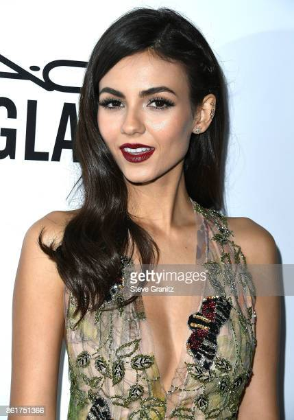 Victoria Justice arrives at the amfAR Los Angeles 2017 at Ron Burkleâs Green Acres Estate on October 13 2017 in Beverly Hills Californi