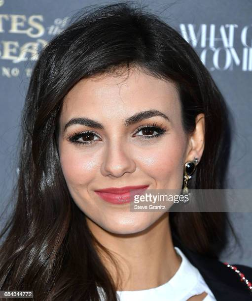 Victoria Justice arrives at the Disney's 'Pirates Of The Caribbean Dead Men Tell No Tales' What Goes Around Comes Around Event at What Goes Around...