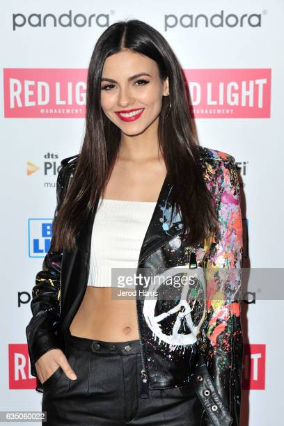 Victoria Justice arrives at the Red Light Management 2017 Grammy After Party on February 12 2017 in West Hollywood California