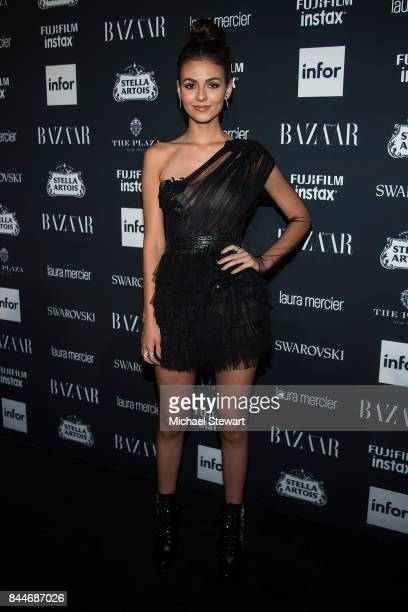 Victoria Justice attends 2017 Harper's Bazaar Icons at The Plaza Hotel on September 8 2017 in New York City
