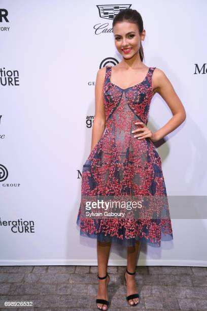 Victoria Justice attends amfAR generationCURE Solstice 2017 at Mr Purple on June 20 2017 in New York City