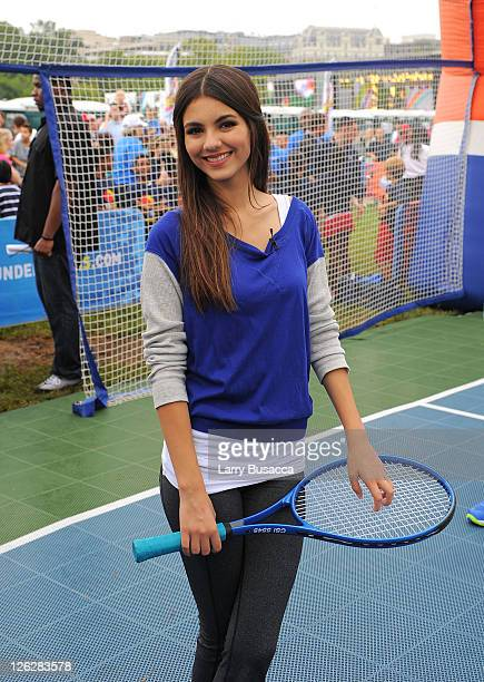 Victoria Justice attends Nickelodeon celebrates largest ever Worldwide Day of Play at the Ellipse on September 24 2011 in Washington DC