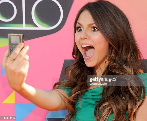 Victoria Justice attends Nickelodeon's 23rd Annual Kids' Choice Awards held at Pauley Pavilion at UCLA on March 27 2010 in Los Angeles California