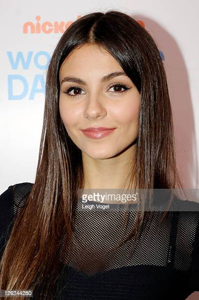 Victoria Justice attends Nickelodeon's celebration of the 8th Annual Worldwide Day of Play at The W Hotel on September 23 2011 in Washington DC