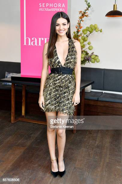 Victoria Justice attends Nina Dobrev celebrates the harper by Harper's BAZAAR September Issue with an Event Presented By Sephora In LA at Rosaline on...