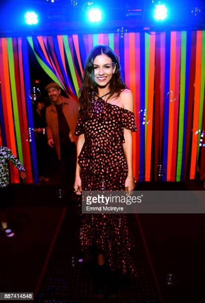 Victoria Justice attends Refinery29 29Rooms Los Angeles Turn It Into Art Opening Night Party at ROW DTLA on December 6 2017 in Los Angeles California