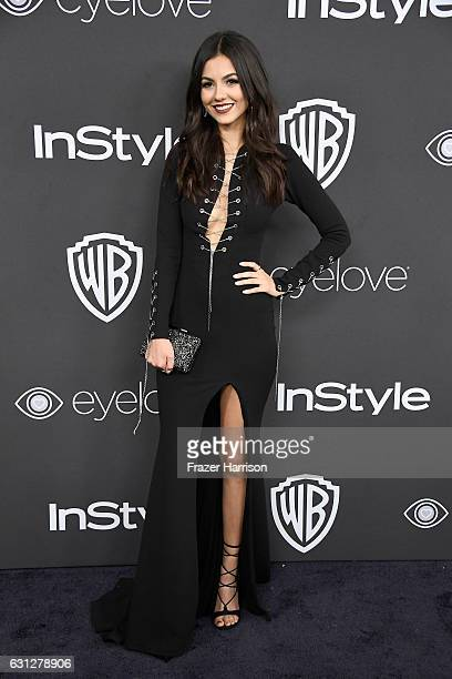 Victoria Justice attends the 18th Annual PostGolden Globes Party hosted by Warner Bros Pictures and InStyle at The Beverly Hilton Hotel on January 8...